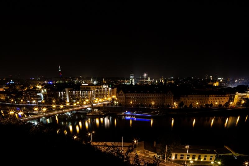 Prague City at Night