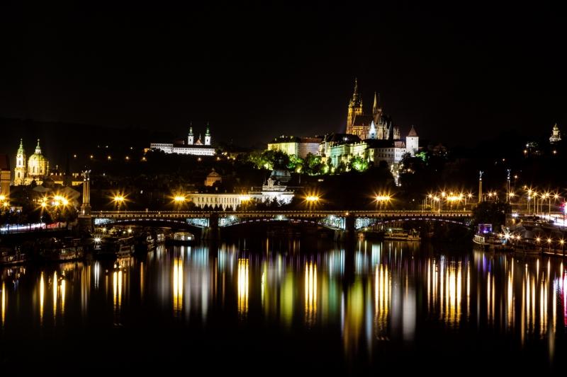 Castle Hill Illuminated at Night
