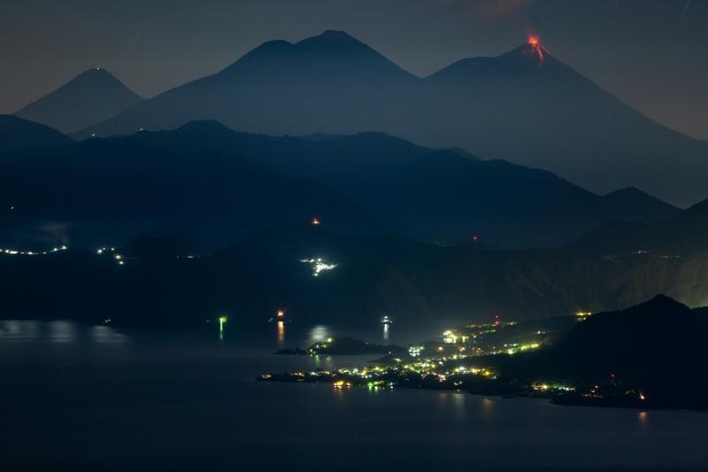 Dual Volcano Eruptions