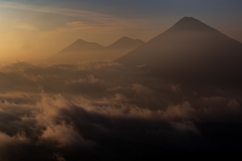 Sunsetting on Atitlan Volcano