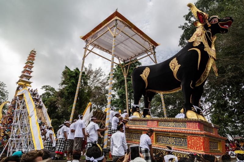Ngaben in Ubud