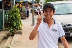 Smiling Laotian Man