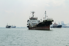 Shipping Vessels at the Harbor
