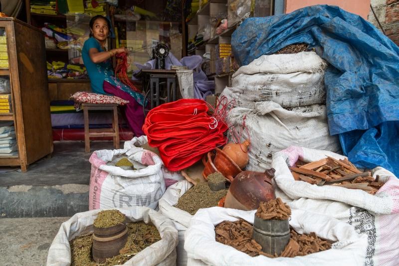 Nepalese Seamstress in Kathmandu