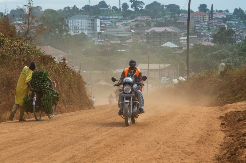 Dusty Road in Fort Portal