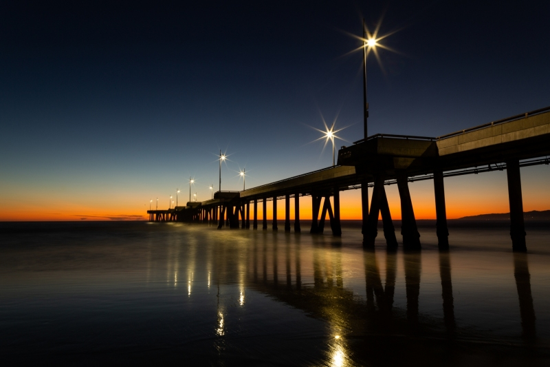 Pier at Venice Beach at Sunset