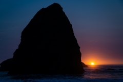 Haystack Rock at Sunset