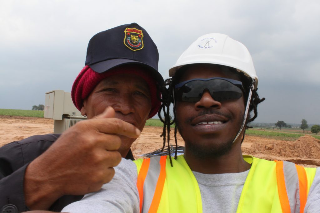 construction worker and security guard