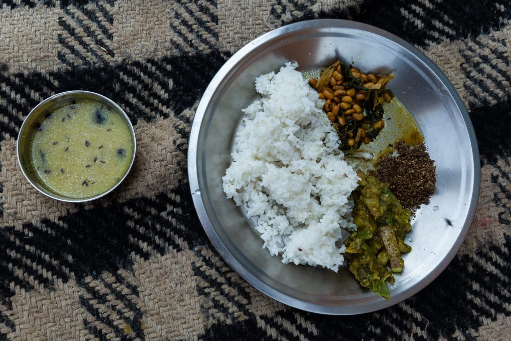 a plate of Dal Baht