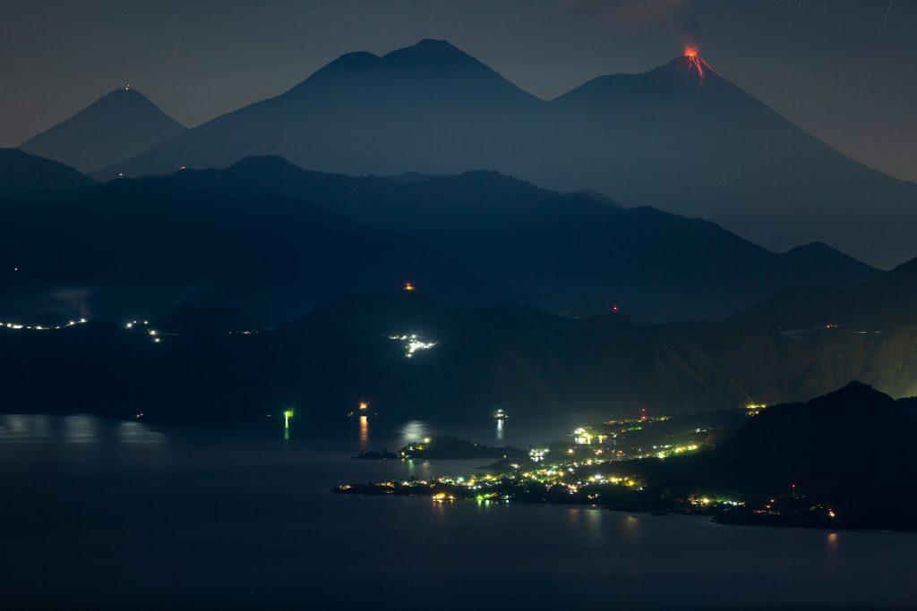 dual volcano eruption in Guatemala
