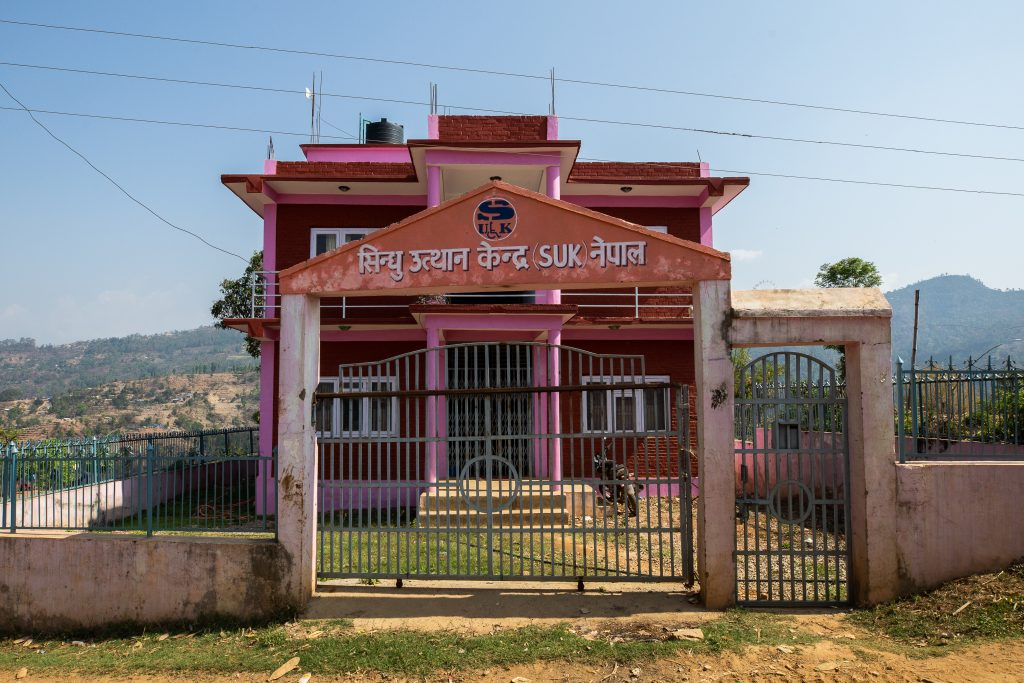 Pink house for volunteering
