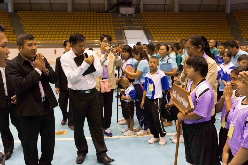 Children at the Special Olympics ceremony in Thailand
