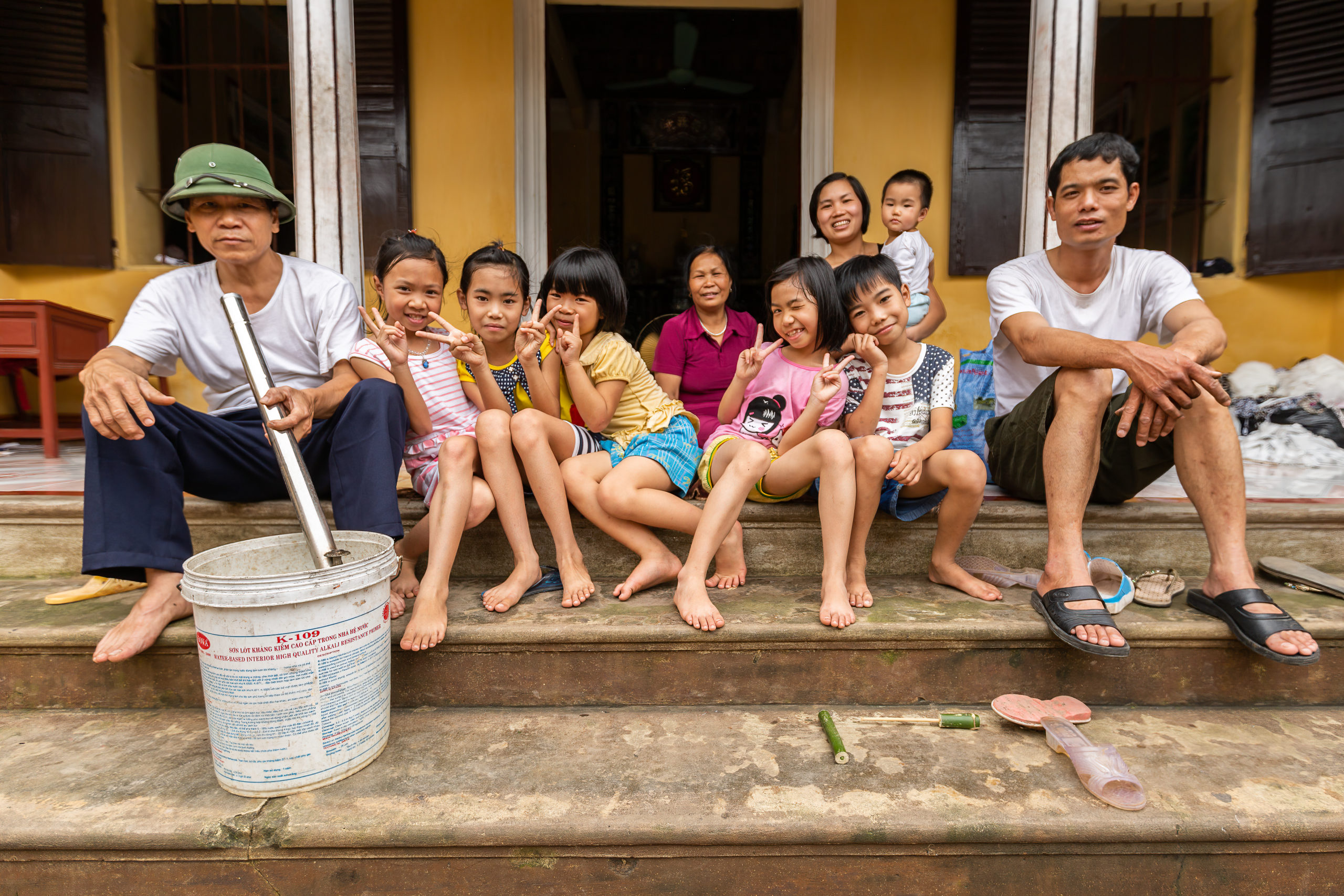Vietnam family portrait