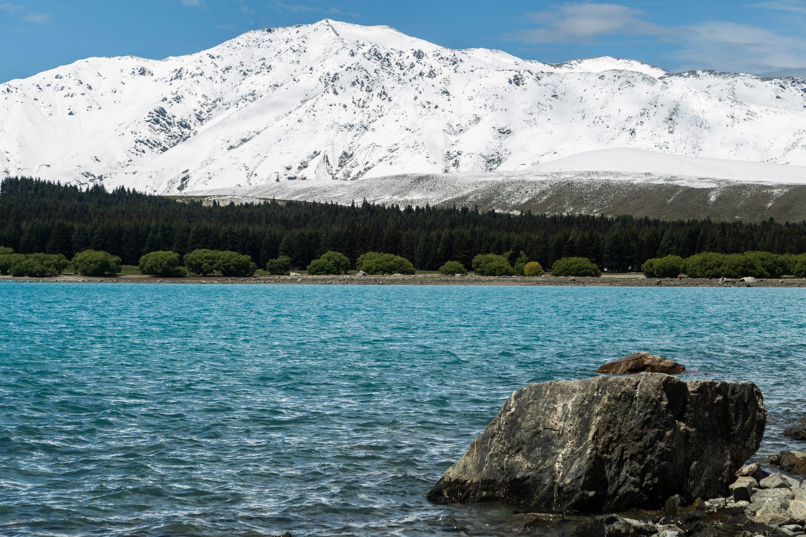 Glacier behind turquoise lake